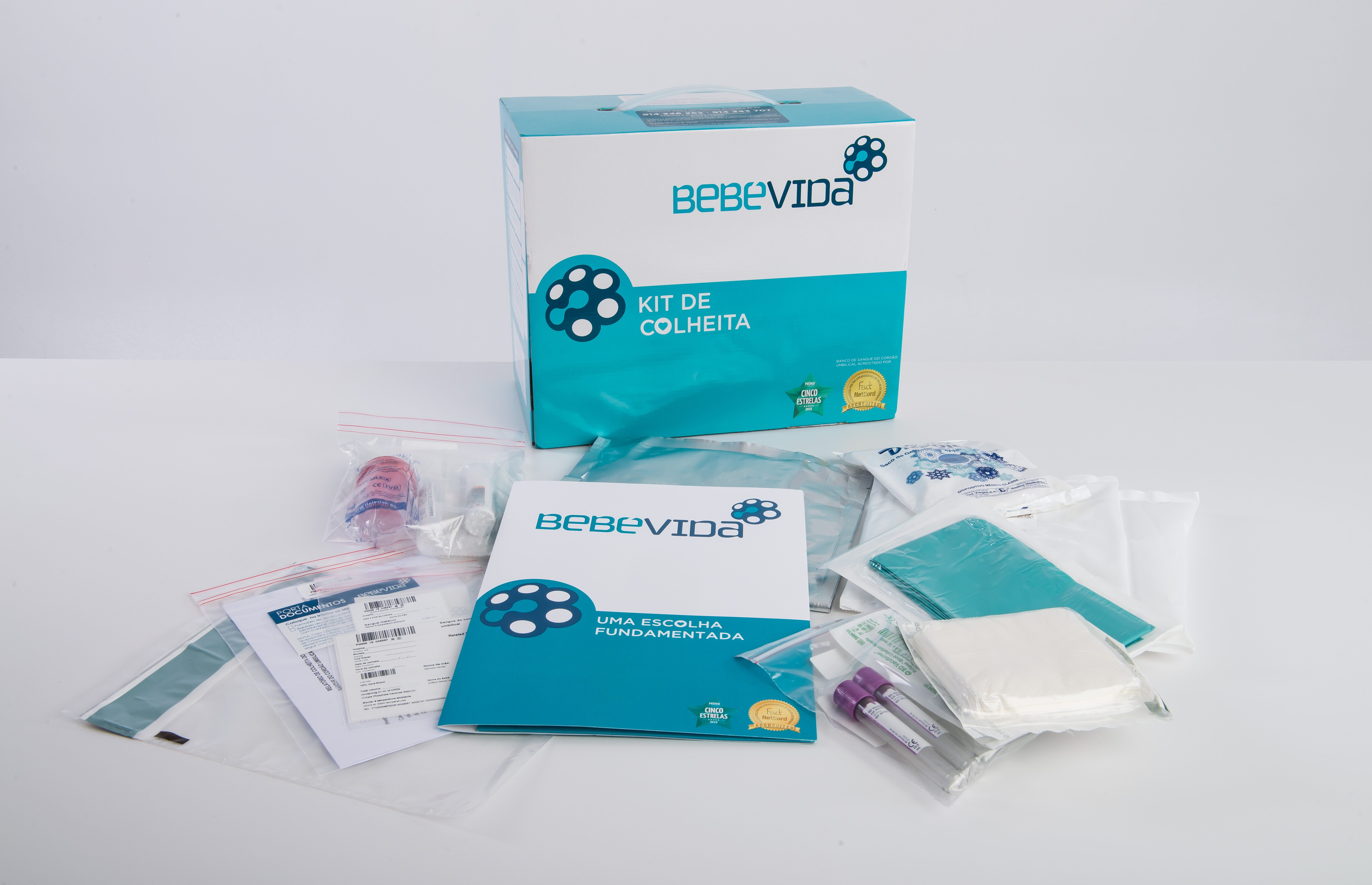 Kit de colheita BebéVida para efeitos de criopreservação