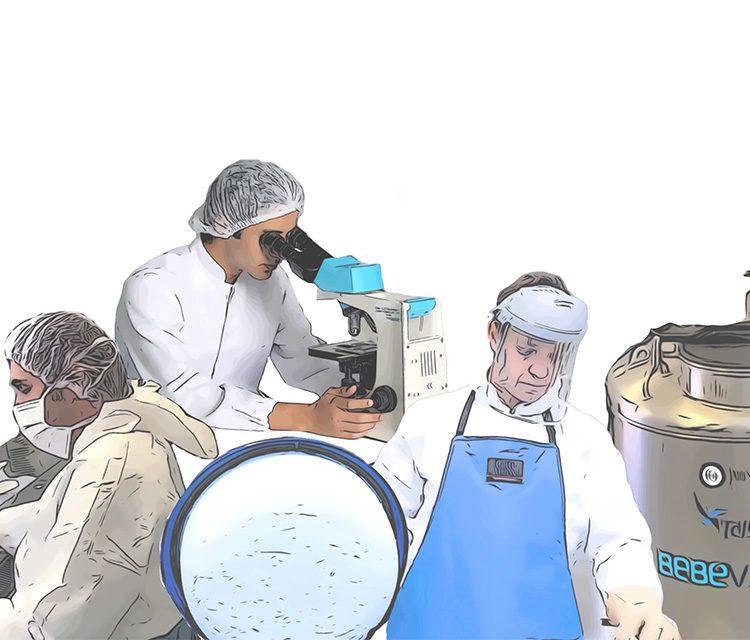 Técnicos do Laboratório BebéVida
