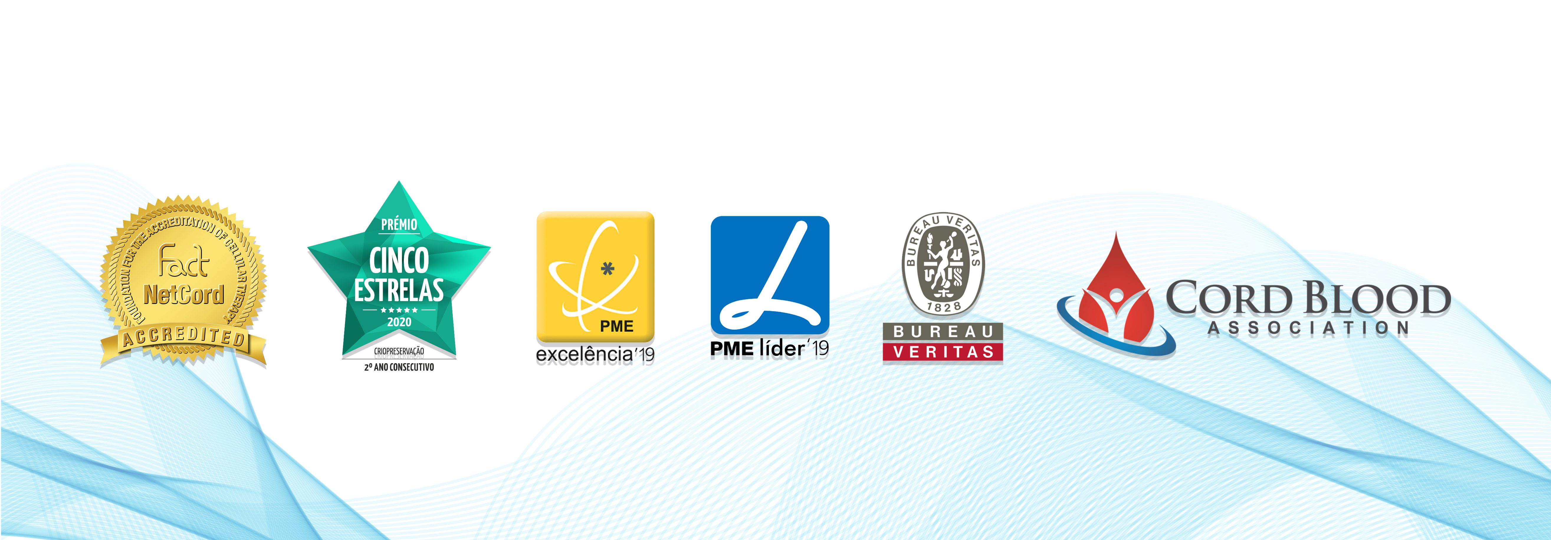 Acreditação FACT Netcord, Prémio 5 Estrelas, PME Excelência, PME Líder, Bureau Veritas, Cord Blood Association